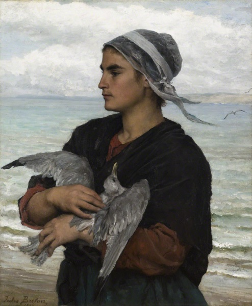 Jules Breton, *The Wounded Sea Gull*, 1878