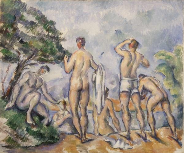 Paul Cézanne, *Bathers*, 1890-92