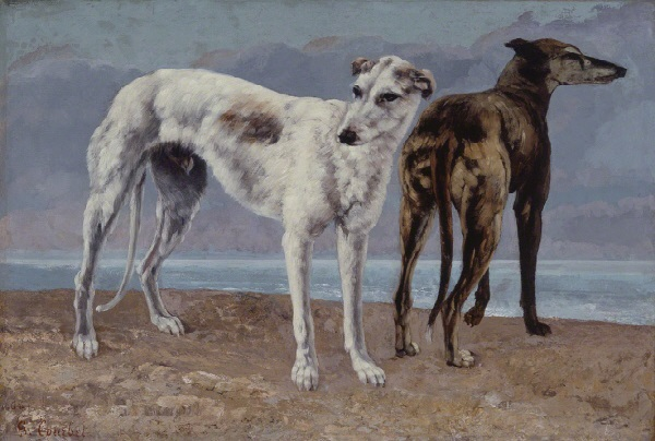 Gustave Courbet, *The Greyhounds of the Comte de Choiseul*, 1866