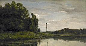 Charles-François Daubigny, *Les Bords de l'Oise à Auvers*, 1863