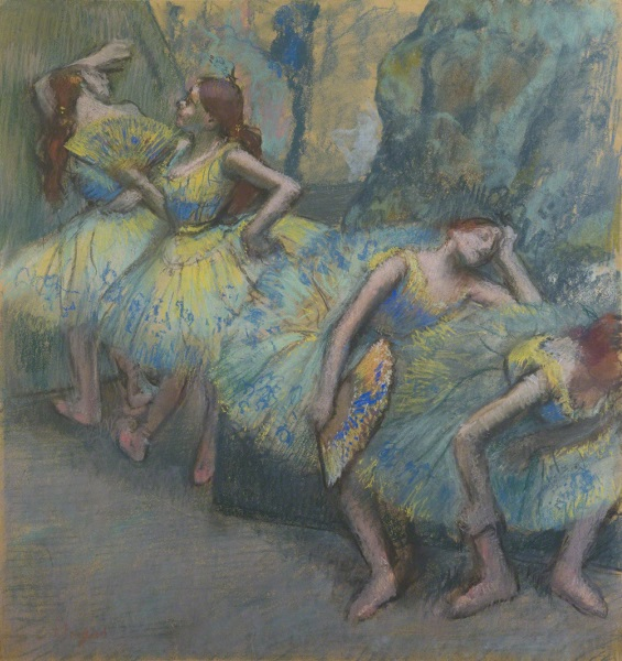 Edgar Degas, *Ballet Dancers in the Wings*, c. 1890-1900