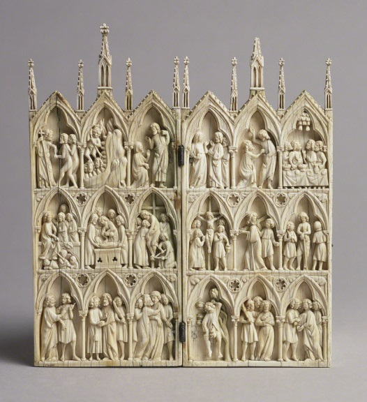 Diptych with Scenes from the Passion and Afterlife of Christ, 1250-70