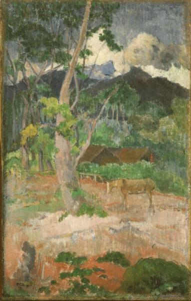 Paul Gauguin, *Landscape with a Horse*, 1899