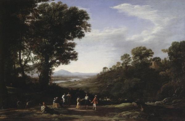 Claude Lorrain, *Villagers Dancing*, late 1630s