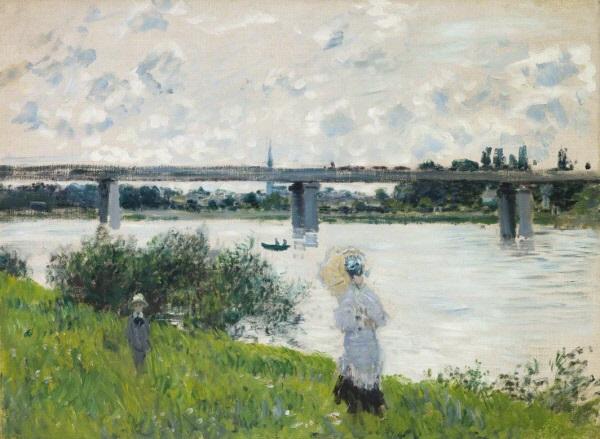 Claude Monet, *Le Pont de chemin de fer à Argenteuil*, 1874