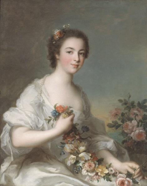 Jean-Marc Nattier, *Portrait d'une dame*, 1738