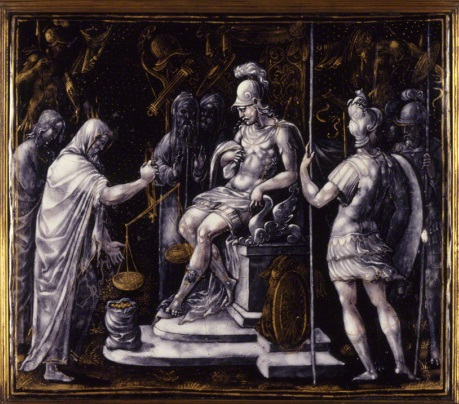 Jean Pénicaud III, *Alexander Giving Money to the Priests of Ammon*, late 16th century