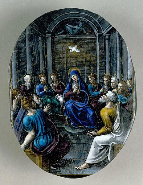 Jean II Pénicaud (attribué), *Scène de la Pentecôte*, v. 1550