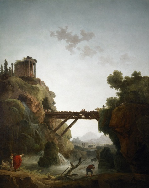 Hubert Robert, *Fantastic View of Tivoli*, 1789