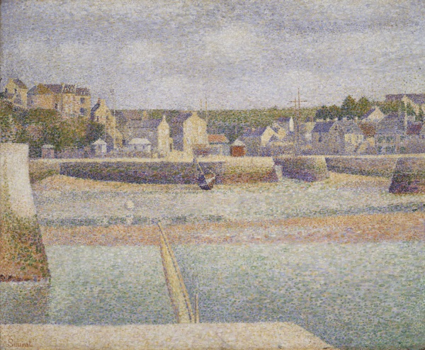 Georges Seurat, *Port-en-Bessin, the Outer Harbor (Low Tide)*, 1888