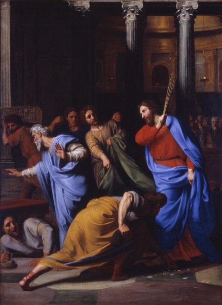 Nicolas Colombel, *Le Christ chassant les marchands du temple*, 1682