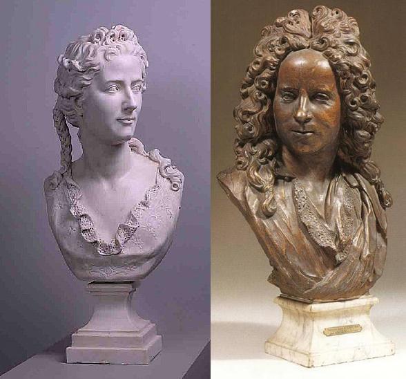 Antoine Coysevox, *Madame du Vaucel* et *Monsieur du Vaucel*, 1712